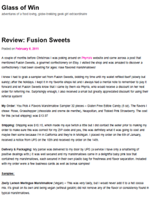 Fusion Sweets Review - Glass of Win