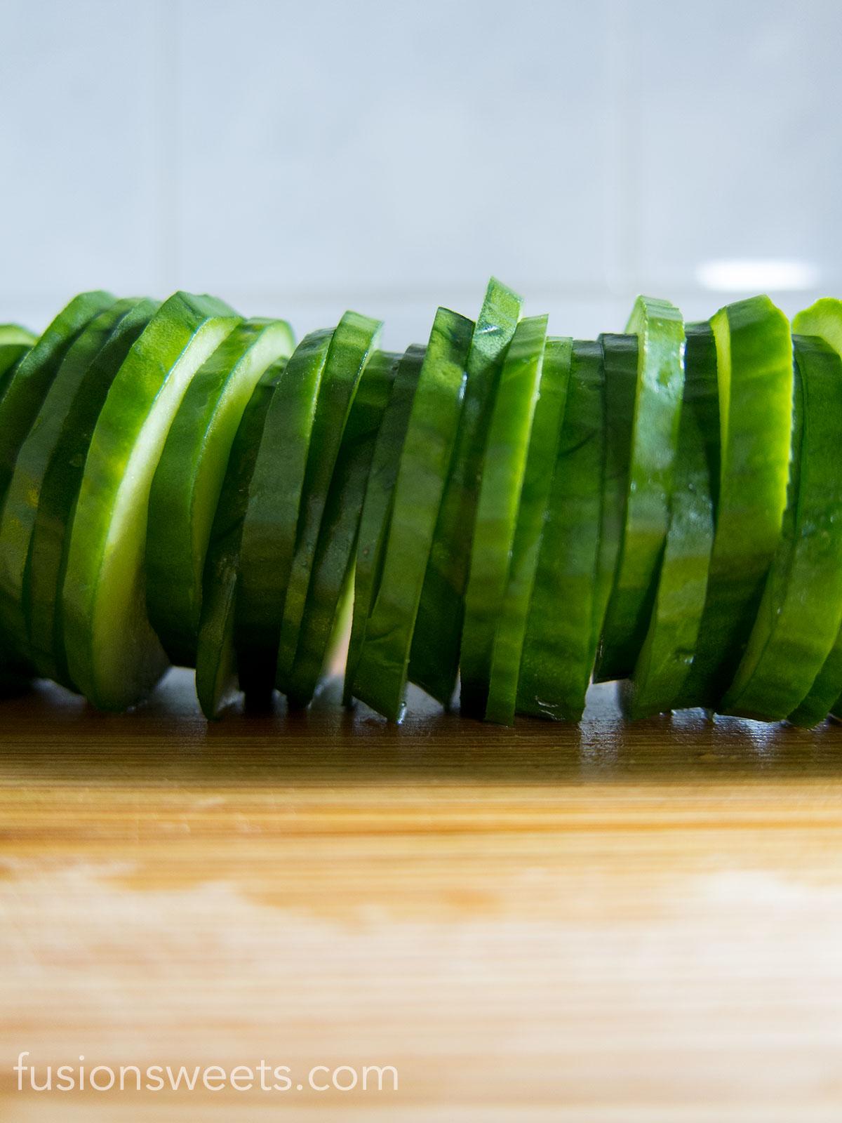 Sliced Cucumber Salad